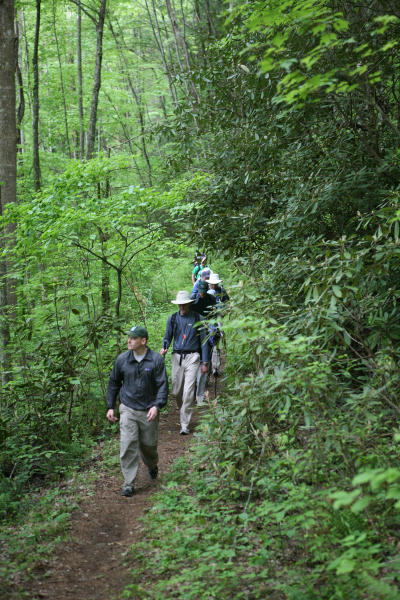 Students experience lightweight hiking on the AT
