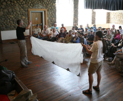 A Cuben Fiber Tarp at the Intro to Lightweight Backpacking Seminar