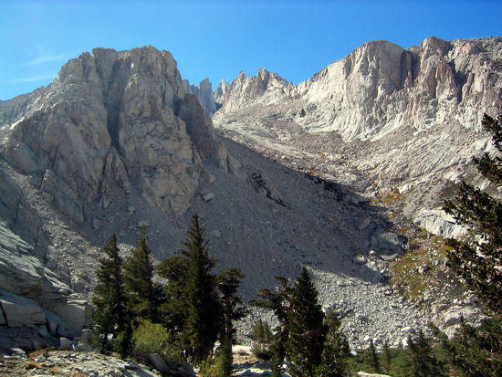 Climbers Route to the Top of Mt. Whitney
