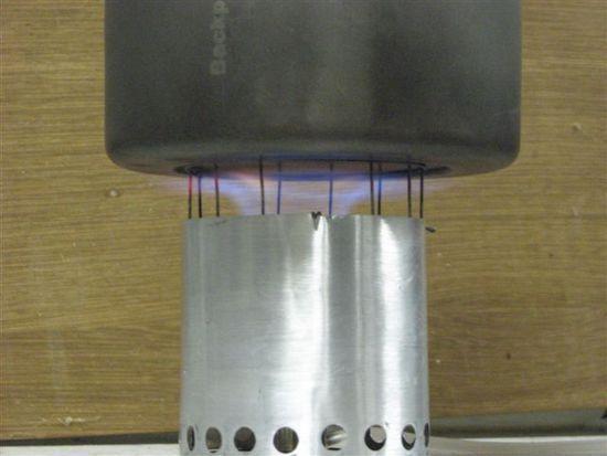 Flame under 550 pot