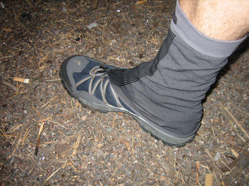Gaiters from old baselayer shirt