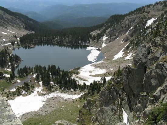 Lake Katherine from Santa Fe Baldy