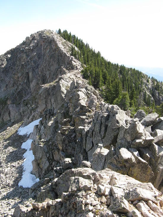 Ridge between Lake and Penitente Peaks