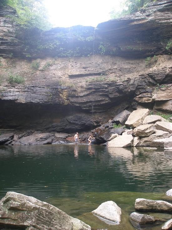 Greeter Falls plunge pool
