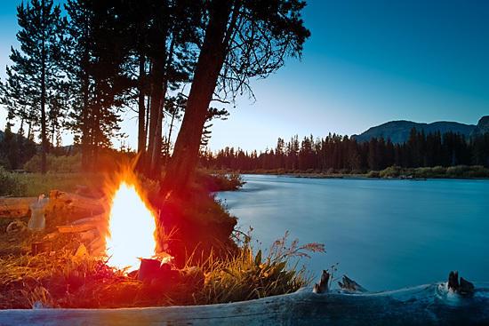 Campfire on Thorofare River (Sigma DP1)