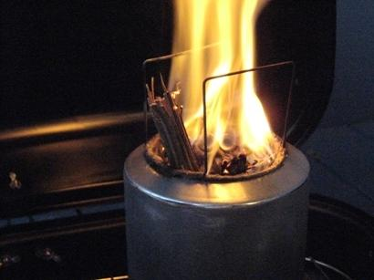 Secondary combustion (flames coming from eyelets)