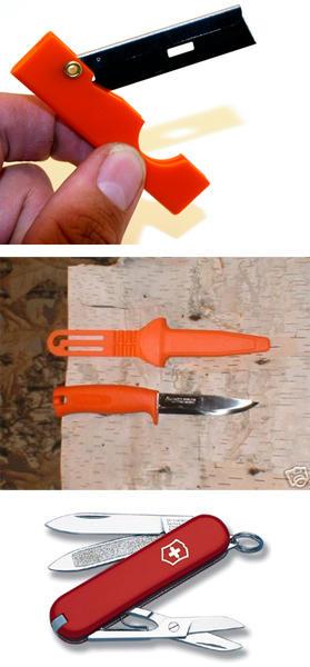 Derma-safe Folding utility razor, Frosts Mora Craftsman, Swiss Army Knife Classic
