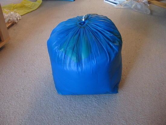 Quilt in stuff sack