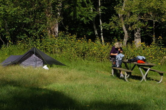 tenting near the AT