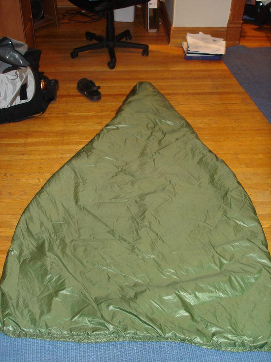 homemade climashield combat/1.1oz DWR ripstop quilt.