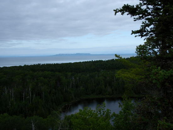 Looking north to the Canadian shore from the Minong Ridge