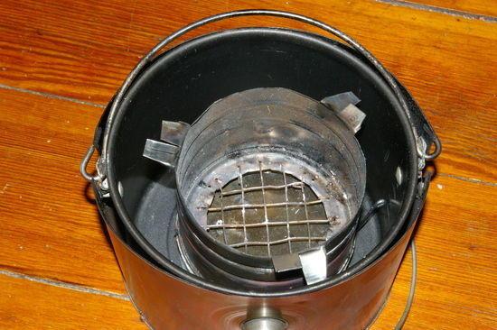 firebox stowed in pot