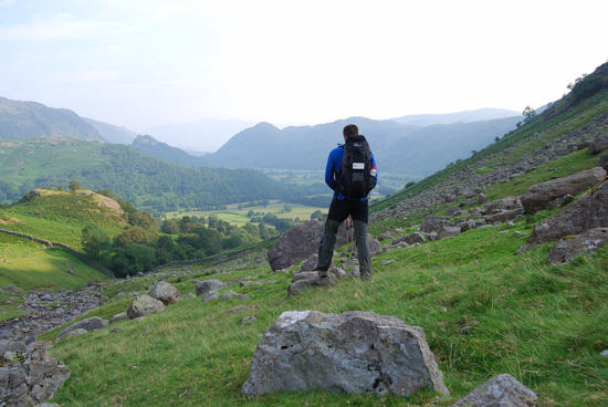 Looking down Borrowdale