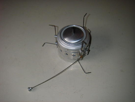 Packfeather stove with snuffer
