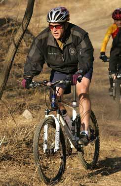 Bush on Mountain Bike