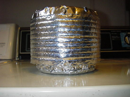 Your finished Reflectix pot cozy.