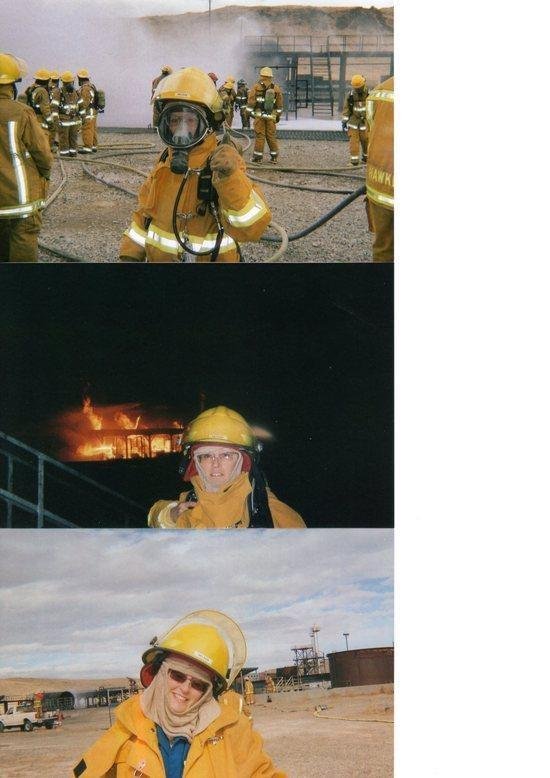 Susan at Fire Science Academy