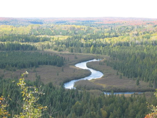Poplar River overlook between Lutsen and Caribou Lake