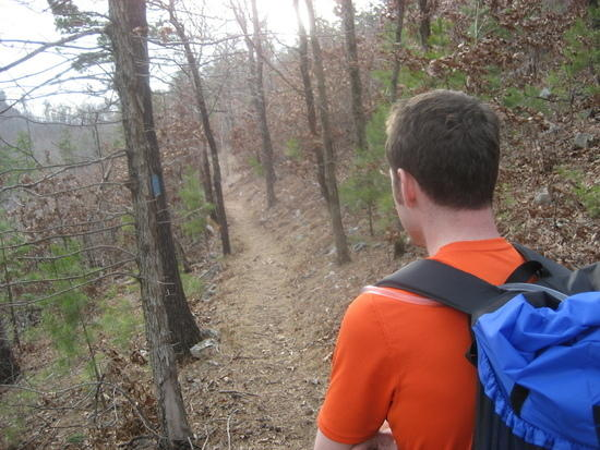 Looking down the trail using the Stickpic