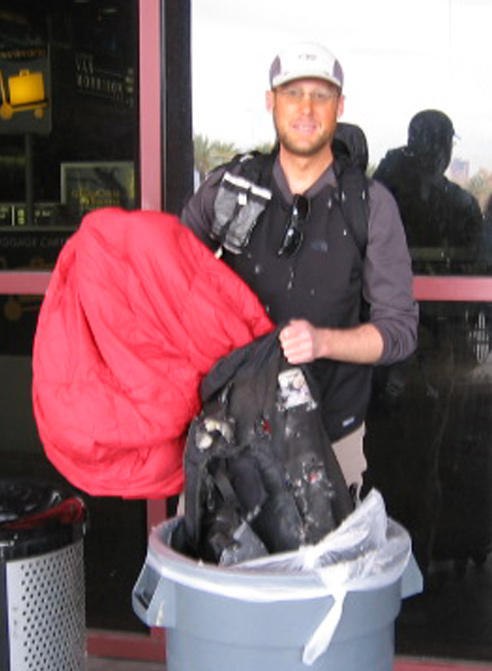 TSA-shredded 1000 denier backpack