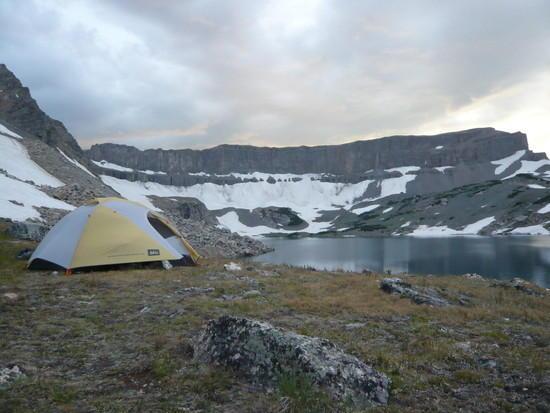 camp at Snowdrift Lake