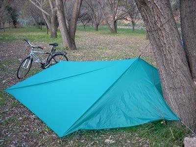 bike as tarp vertical support 1