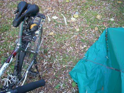 bike as tarp vertical support 2