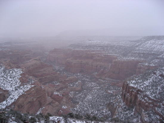 Canyons in Snow