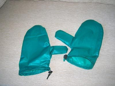 MYOG silnylon shell mittens, rough design