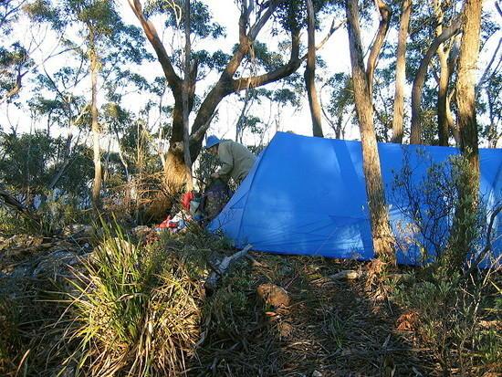 1075S Camp on Mt Jenolan