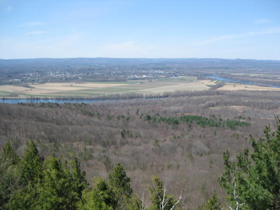 Northampton, Amherst, and the Connecticut River from the Holyoke Range