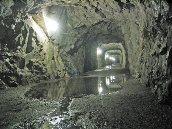 Night Time View of the Tunnel to the Trail Head at O'Shaughnessy Dam