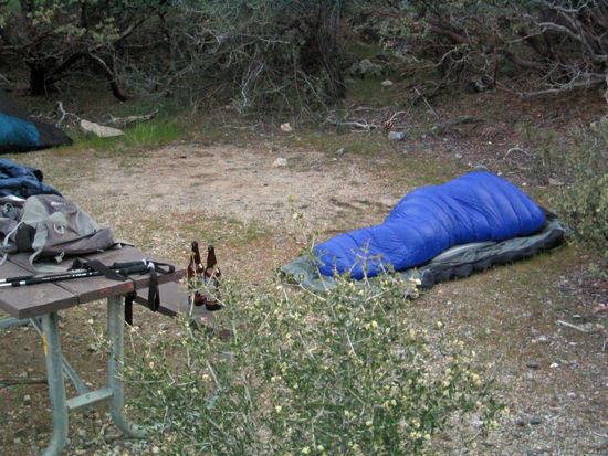 Ken Sleeping out on his Virga