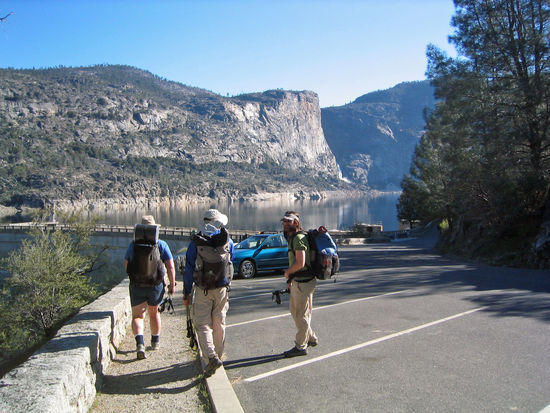 Walking Through the Day Hikers Parking Lot