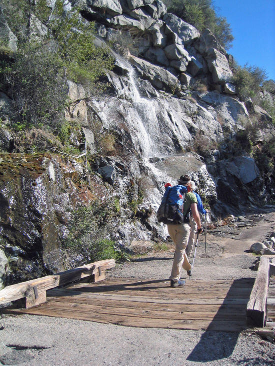 Heading Up and Out onto the Trail