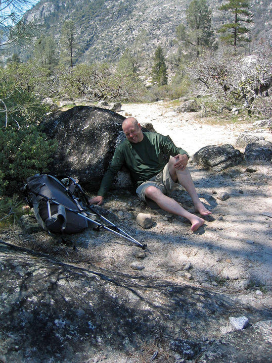 Ken Relaxing after a Hard Time on the Trail