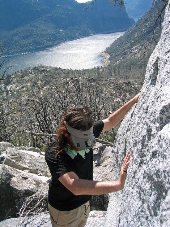 Cameron Hugging the Granite