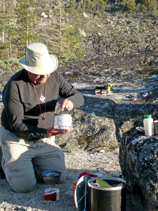 Denis Using an Pot Cozy