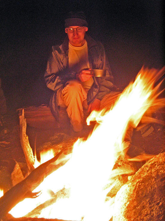 Lane Relaxing by the Fire