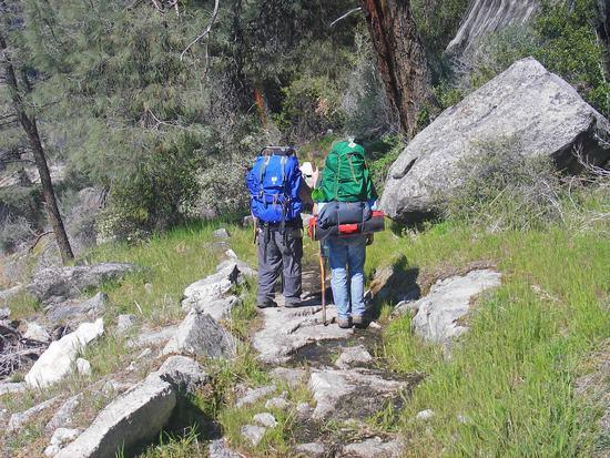 Traditional Backpackers on the Trail