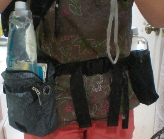 Hip belt pouches