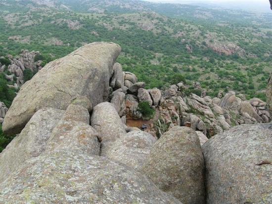 Scramble up Twin Rocks