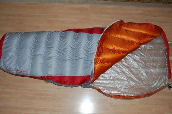 Sleeping bag open
