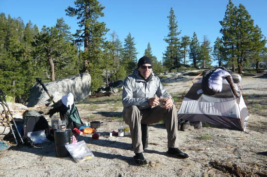 Awesome camp above Yosemite Falls on Yosemite creek.