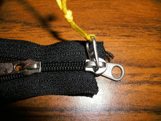 top view zipper