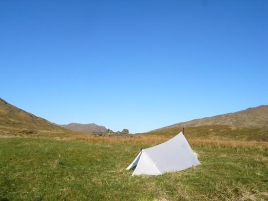 Camp at Wes end of Loch Mullardoch