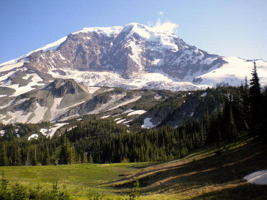Mount Rainier from Moraine Park