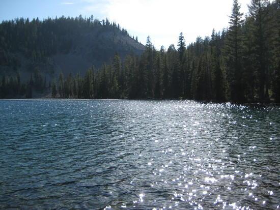 Lake Harriette in fading light