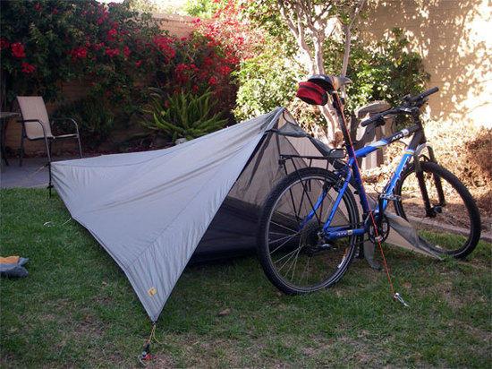 Contrail and bike