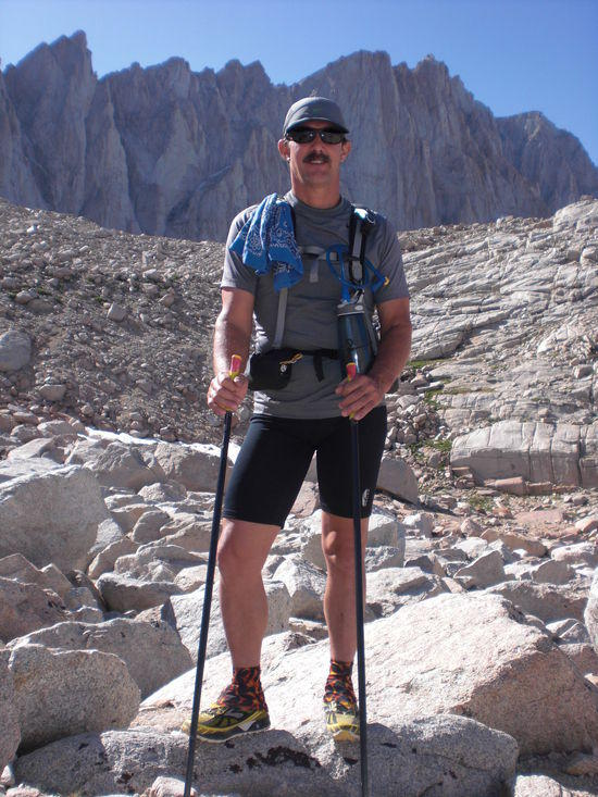 Mark Davis at Trail Camp on the evening bf the attempt